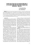 Nghiên cứu, đề xuất mặt cắt ngang đê biển hợp lý và phù hợp với điều kiện từng vùng từ Quảng Ngãi đến Bà Rịa - Vũng Tàu