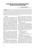 Đề xuất một số tiêu chí và phương pháp đánh giá tính hợp lý của mặt cắt đê, kè biển - ThS. Đặng Thị Hải Vân
