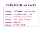 Bài giảng Phần thứ 2: MS Excel