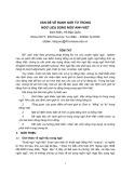 Vấn đề về ranh giới từ trong ngữ liệu song ngữ Anh-Việt