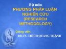 Bài giảng Phương pháp luận nghiên cứu