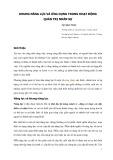 Khung năng lực và ứng dụng trong hoạt động quản trị nhân sự