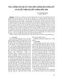 Ảnh hưởng của độ hút dính đến cường độ kháng cắt và hệ số thấm của đất không bão hoà