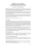 Model for water circulation in tidal dominated estuarine regions