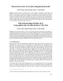 Khả năng áp dụng mô hình vật lý trong nghiên cứu xói chân đê biển ở Việt Nam