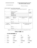 Đề thi chọn học sinh giỏi cấp tỉnh lớp 12 môn: Tiếng Trung Quốc (Năm học 2011-2012)