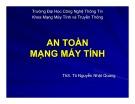 Bài giảng An toàn mạng máy tính: Bài 2A - ThS. Tô Nguyễn Nhật Quang