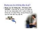 Bài giảng Mạng máy tính: Mạng cục bộ không dây - Phạm Văn Nam