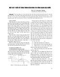 Một vài ý kiến về công trình dẫn dòng thi công dạng bậc nước