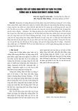 Nghiên cứu xây dựng định mức dự toán thi công tường hào xi măng Bentonite chống thấm