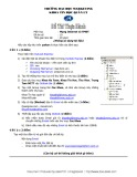 Đề thi thực hành môn Mạng Internet và TMĐT Trường đại học Marketing: Đề số 10