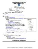 Đề thi thực hành môn Mạng Internet và TMĐT Trường đại học Marketing: Đề số 8