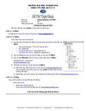Đề thi thực hành môn Mạng Internet và TMĐT Trường đại học Marketing: Đề số 9