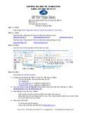 Đề thi thực hành môn Mạng Internet và TMĐT Trường đại học Marketing: Đề số 11