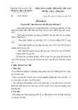 Kế hoạch chuyên đề: Dạy học theo chủ đề môn Sinh học 9