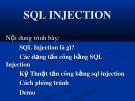 Bài giảng SQL Injection