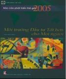Ebook Báo cáo phát triển thế giới 2005 - Môi trường đầu tư tốt hơn cho mọi người: Phần 1