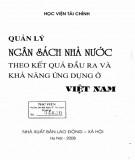 Khả năng ứng dụng ở Việt Nam - Quản lý ngân sách nhà nước theo kết quả đầu ra: Phần 1