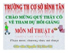 Bài giảng Mỹ thuật Lớp 6: Bài 32 - Thường thức mỹ thuật - Nguyễn Thị Kim Chi