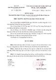 Quyết định Số: 1142/QĐ-DHN