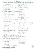 Phương trình, bất phương trình và hệ phương trình - Hồ Văn Diên