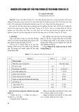Nghiên cứu chọn kết cấu phụ trong bể tiêu năng tràn xả lũ - TS. Nguyễn Hữu Huế