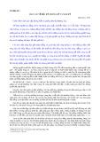 Tài liệu số 3: Báo cáo về Bắc kỳ, Trung kỳ và Nam kỳ