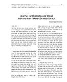 Khuynh hướng nhân văn trong tập thơ Ánh trăng của Nguyễn Duy
