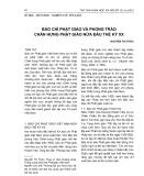Báo chí Phật giáo và phong trào chấn hưng Phật giáo nửa đầu thế kỷ XX