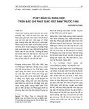 Phật giáo và khoa học trên báo chí Phật giáo Việt Nam trước 1945