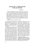 Quan hệ tình - lý trong văn hóa pháp luật Việt Nam