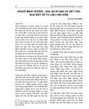 Người Minh Hương - Dấu ấn di dân và việt hóa qua một số tư liệu Hán Nôm