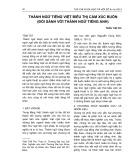 Thành ngữ tiếng Việt biểu thị cảm xúc buồn (Đối sánh với thành ngữ tiếng Anh)