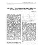 Vận dụng lý thuyết và phương pháp xã hội học trong nghiên cứu gia đình ở Việt Nam