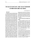 Tên gọi của Kitô giáo - Một vài suy nghĩ dưới cái nhìn tham chiếu Việt-Trung