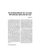 Hồ Chí Minh khởi đầu việc xây dựng nền giáo dục quốc dân Việt Nam