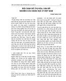 Bối cảnh đô thị hóa: Vấn đề nghiên cứu nhân học ở Việt Nam