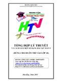 Tổng hợp lý thuyết và cách giải một số dạng bài tập Toán 9 (Dùng cho HS ôn thi vào lớp 10) - Hoàng Thái Việt