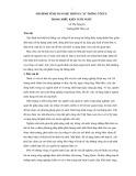 Mô hình tính toán hệ thống cây trồng tối ưu trong điều kiện tưới nước - Lê Thị Nguyên