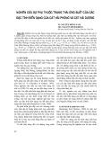 Nghiên cứu sự phụ thuộc trạng thái ứng suất của các đặc tính biến dạng của cát Hải Phòng và cát Hải Dương