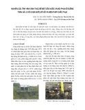 Nghiên cứu tình hình xâm thực bề mặt dọc nước và mũi phun ở đường tràn xã lũ hồ chứa nước Kẻ Gỗ và biện pháp khắc phục