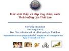 Báo cáo Mức sinh thấp và đáp ứng chính sách - Tình huống của Thái Lan - Suwanee Khamman