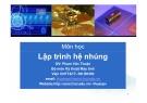 Bài giảng môn học Lập trình hệ nhúng - Phạm Văn Thuận