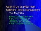 Bài giảng Quản lý dự án phần mềm - Thạc Bình Cường