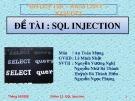 Bài thuyết trình: SQL injection