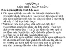 Bài giảng Ngôn ngữ lập trình C - Chương 1: Giới thiệu ngôn ngữ C