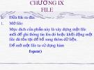 Bài giảng Ngôn ngữ lập trình C - Chương 9: File