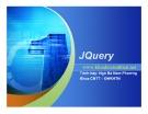 Bài giảng JQuery - Ngô Bá Nam Phương