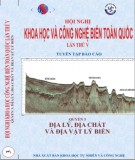 Ebook Địa lý, địa chất và địa vật lý biển