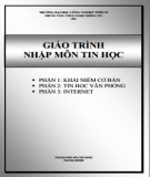 Giáo trình Nhập môn tin học: Phần 1